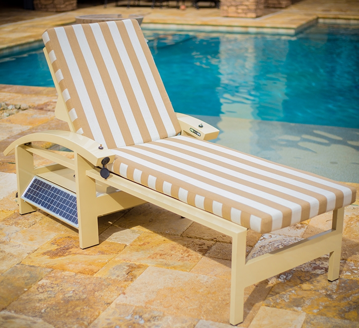Solar-Powered Self Misting Lounger