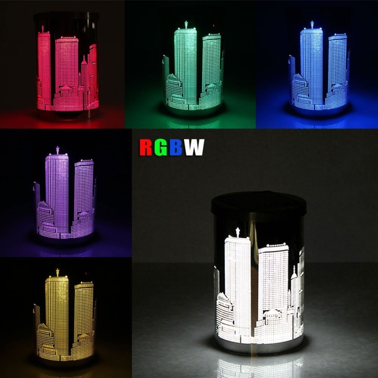 Stainless steel Solar Powered LED Color Changing Decoration Light