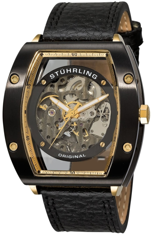 Stuhrling Original Men Automatic Skeleton Watch