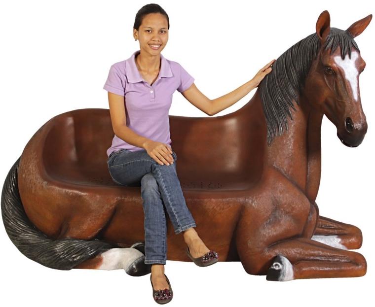 Up Horse Bench Sculpture