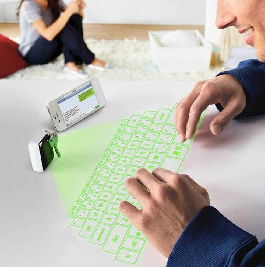 Virtual Laser Projected USB Bluetooth Keyboard and Touchpad