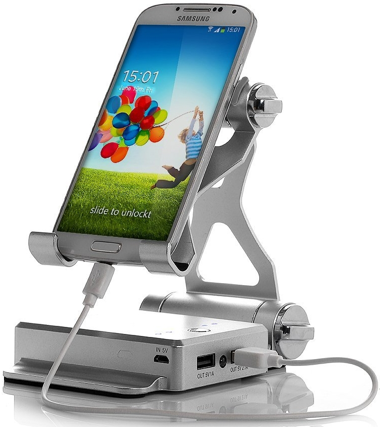 10400mAh Dual USB External Battery Pack with Multi-Angle Portable Stand