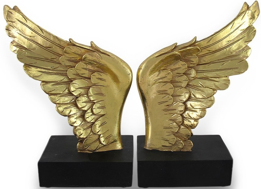 Angel Wing Decorative Bookends