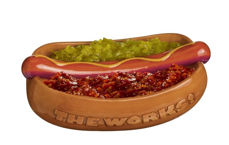 Ceramic 2-Pack Hotdog Condiment Server
