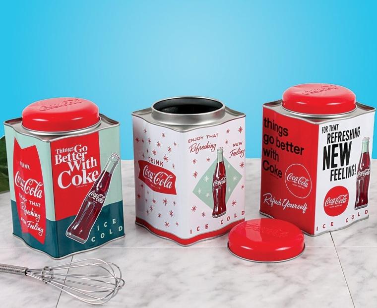 Coca-Cola Nostalgic Tin Canister Set