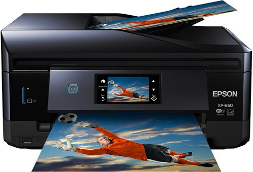 Epson Expression Photo XP-860 Wireless Color Photo Printer with Scanner and Coper