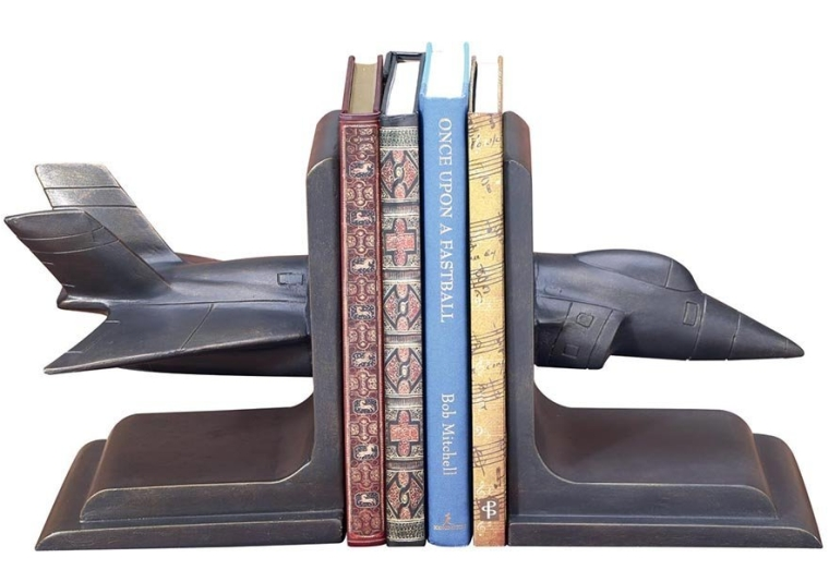 Fighter Jet Pair of Bookends
