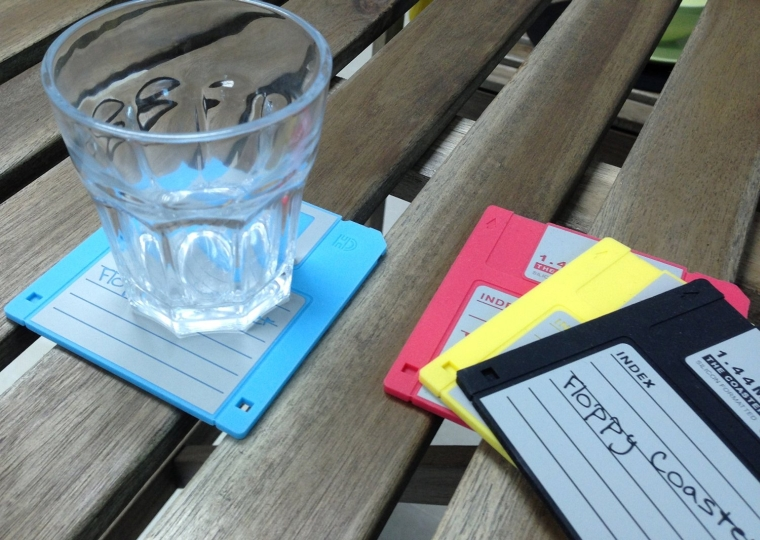 Floppy Disk Silicone Drink Coaster
