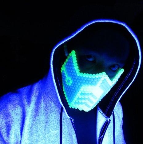 Glow in the Dark Sub Zero Kandi Mask