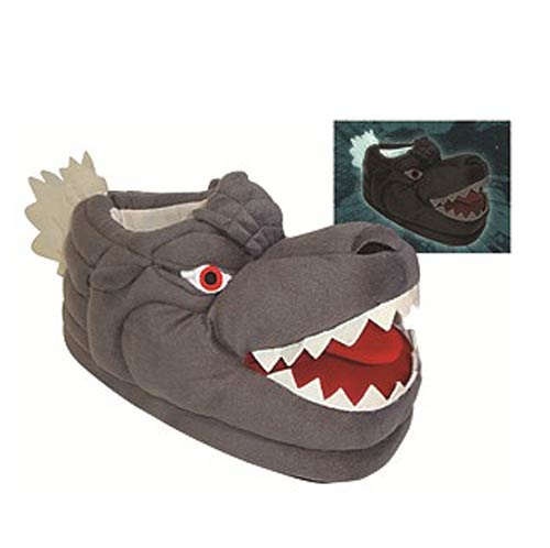 Godzilla Glow-in-the-Dark Plush Slippers