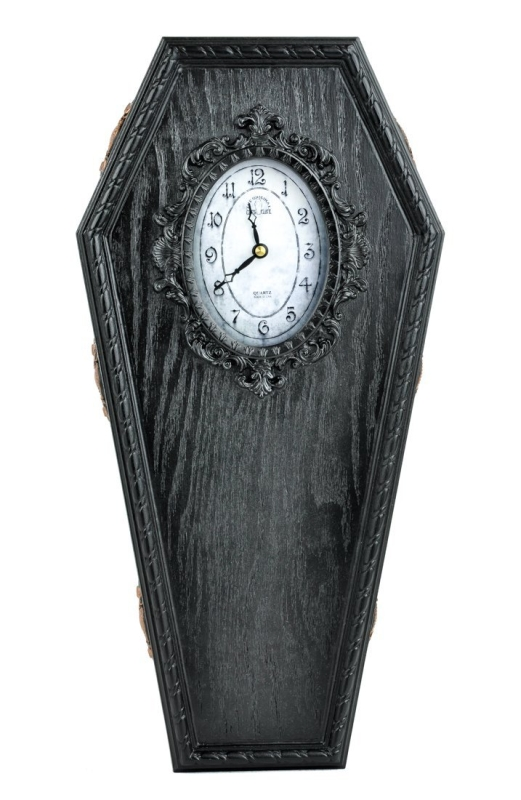 Gothic Coffin Wall Clock Halloween Home Decor