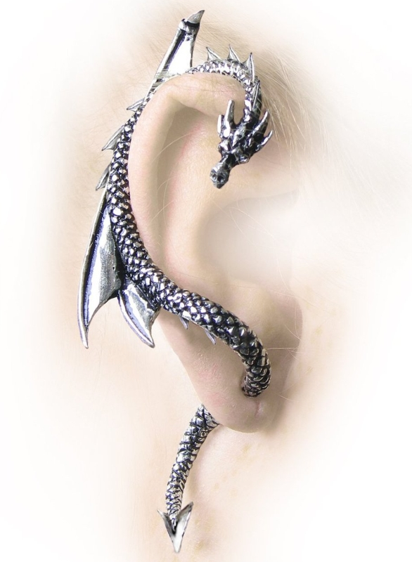 Gothic Dragons Lure Earring