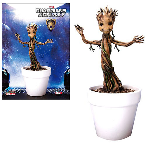 Guardians of the Galaxy Baby Groot 7-Inch Action Hero Vignette Pre-Assembled Model Kit