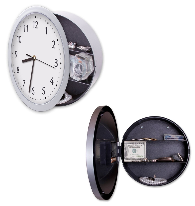 Hidden Wall Clock Safe