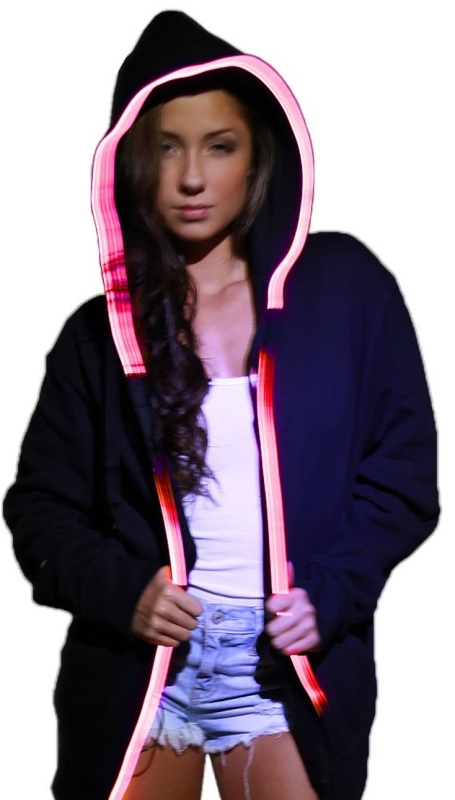 Light Up Hoodie - Sound Activated