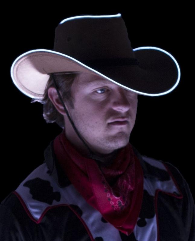 Light up Cowboy Hat Brown