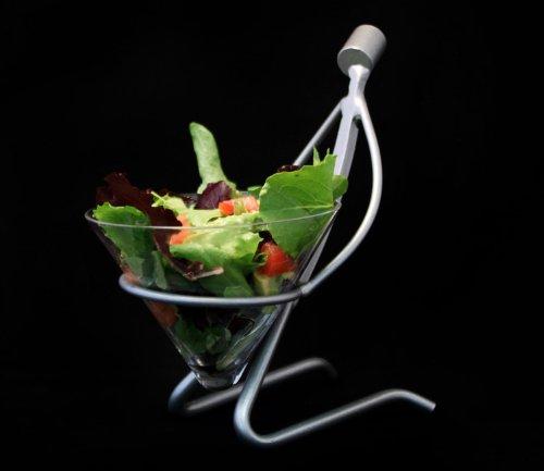 Metal Sculpture Food Server