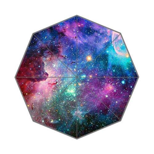 Nebula Galaxy Space Universe 43.5 Inch Wide Anti Rain Durable Foldable Umbrella