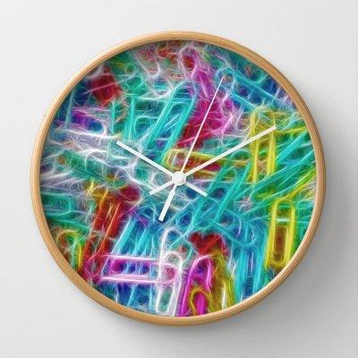 Paperclip Fun Wall Clock