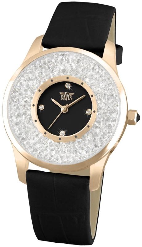 Rose Gold Elegant Watch with Swarovski crystal