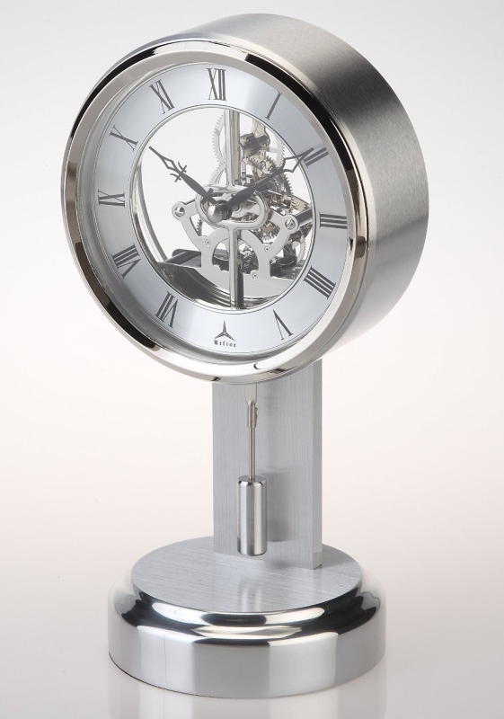 Skeleton Clock with Pendulum