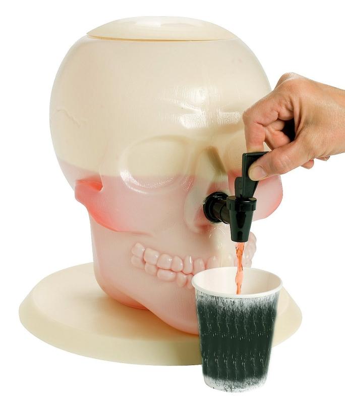 Skull Shaped Plastic Drink Dispenser