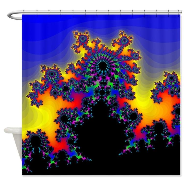 The Fractals Edge Shower Curtain