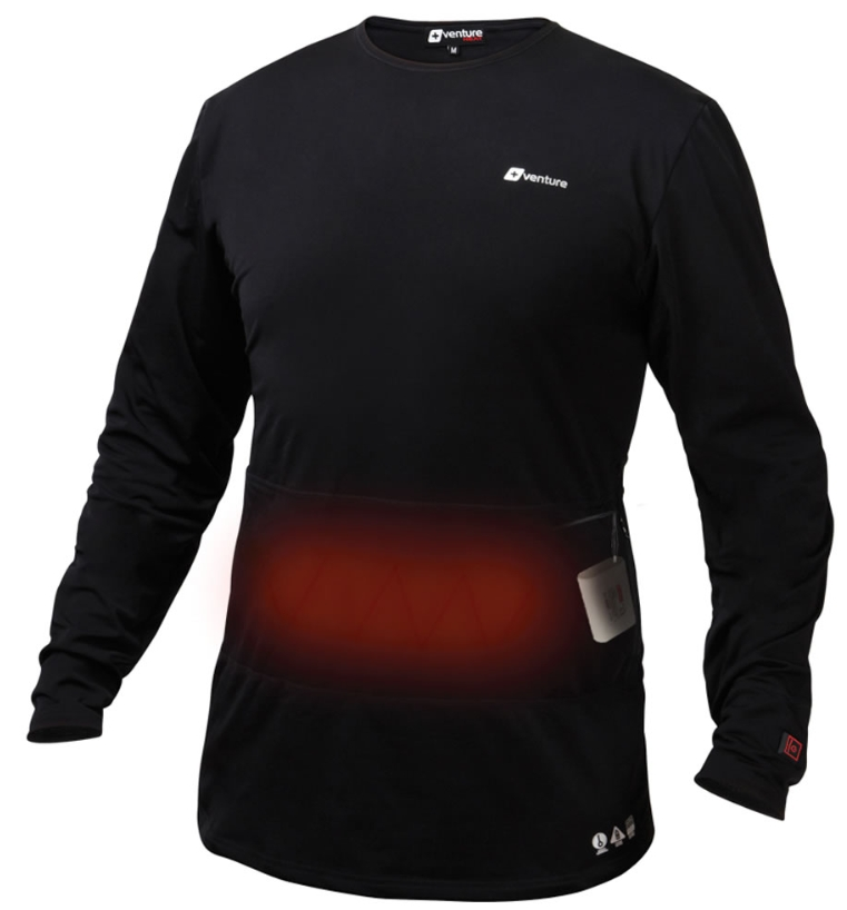 The Only Three Zone Heated Base Layer Top