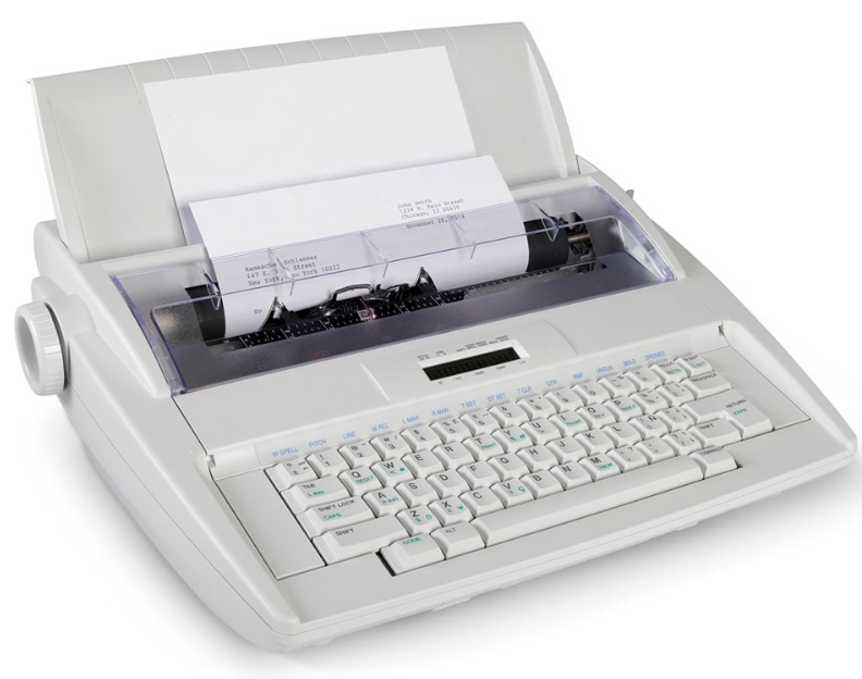 The Typo Preventing Electronic Typewriter