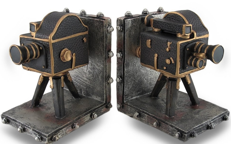 Vintage Style Film Camera Cast Resin Bookend