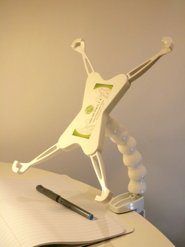 iPad Clamp Mount Pivoting, Articulating Stand for iPad 2, 3, 4
