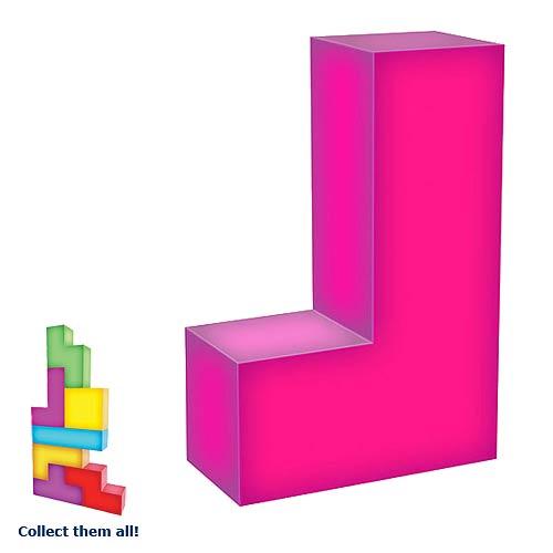 tetris J-Shaped Tetrimino Light-Up