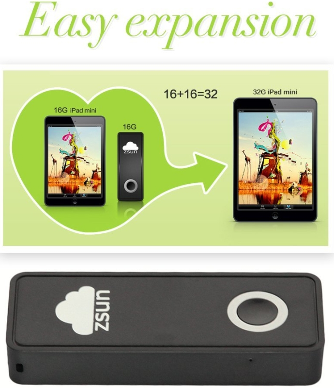 32G Wireless WIFI Portable Mobile Storage USB Flash Drive For Smartphones