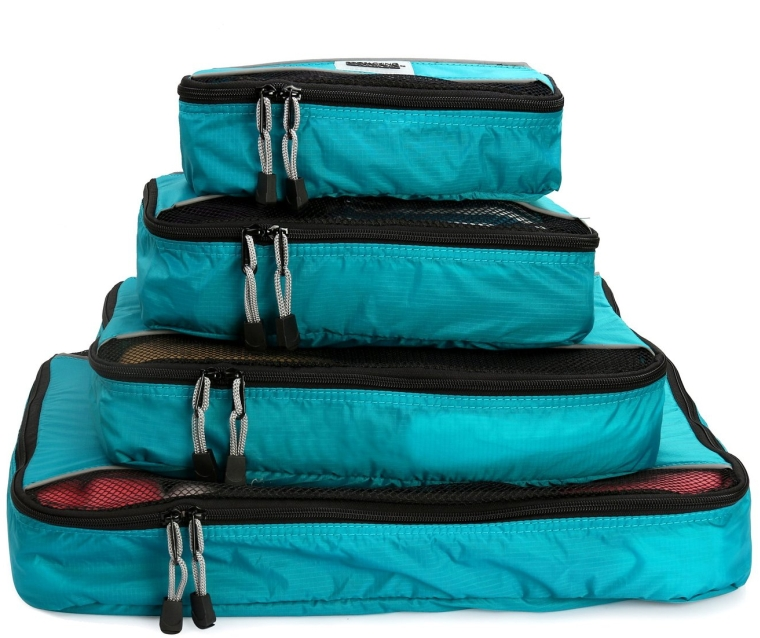 4 Piece Lightweight Travel Packing Cubes Set