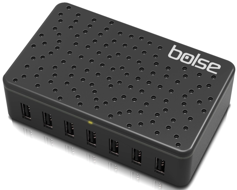 7-Port Fast Charging USB Wall  Desktop Charging Station With SmartIC Technology
