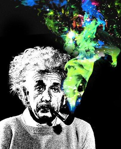 Albert Einstein Pipe Smoke Galaxy Fleece Throw Blanket