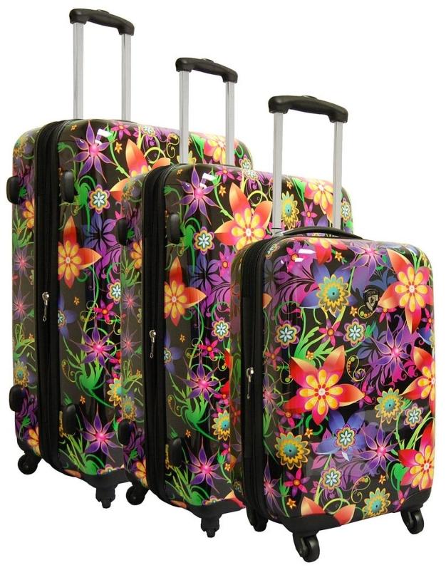 Art Floral Burst 3 Piece Luggage Set