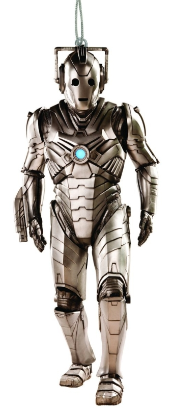 Doctor Who Cyberman Blow Mold Christmas Ornament