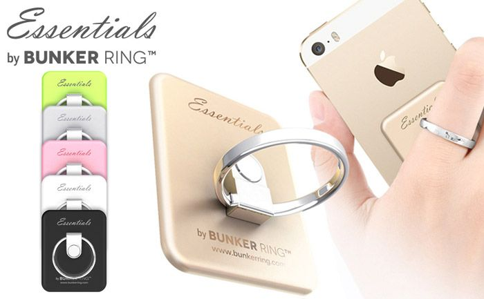 Dual Ring and Smart Phone Stand Type Back Sticker Case For Smart Phone