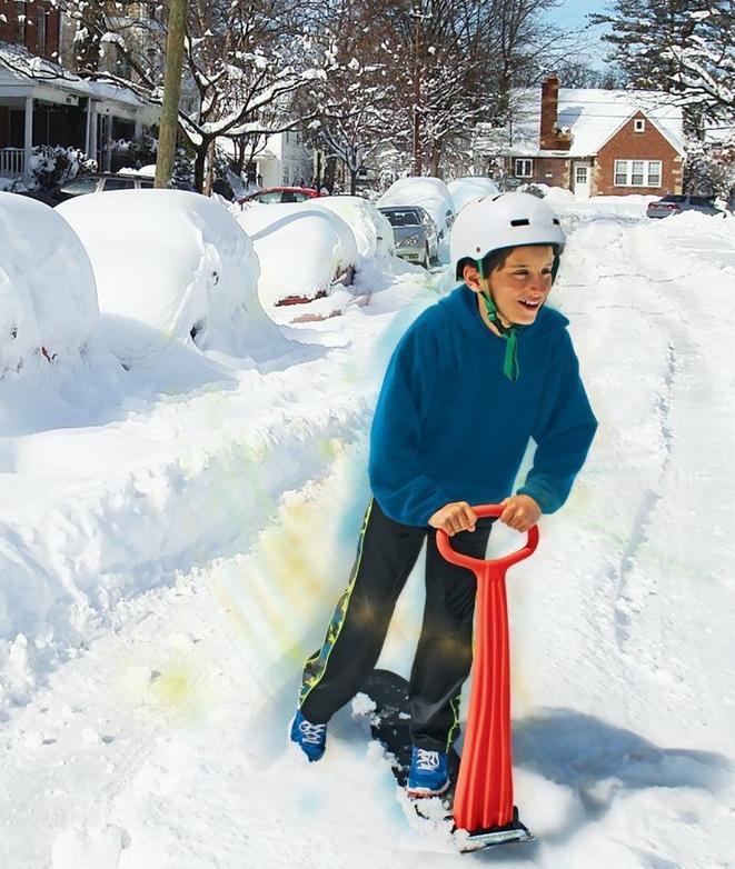 Fold-up Snowboard Kick-Scooter