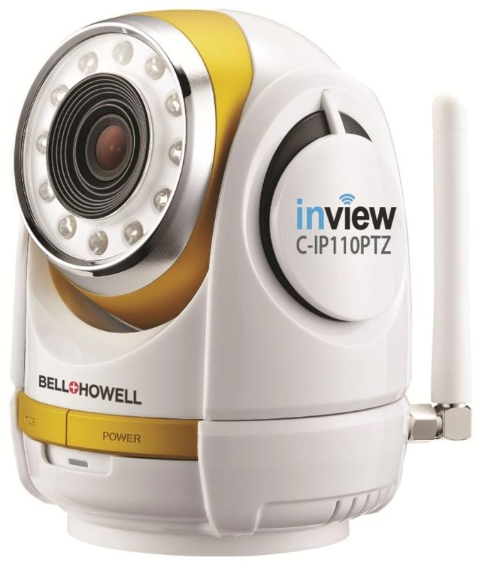 InView HD 1280 x 720p H.264 Wireless Wi-Fi Pan Tilt Zoom IP Camera