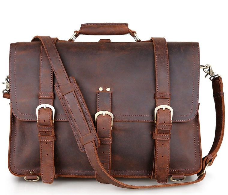 Leather Men's Huge Backpack Shoulder