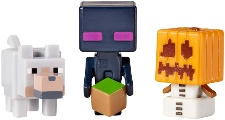 Minecraft Collectible Figures Wolf, Enderman