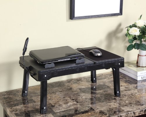 Multifunctional Laptop Table Stand With Cooling Fan  USB Ports
