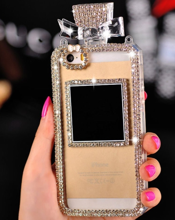 Perfume Bottle Shaped Chain Handbag Case Cover for Iphone 6