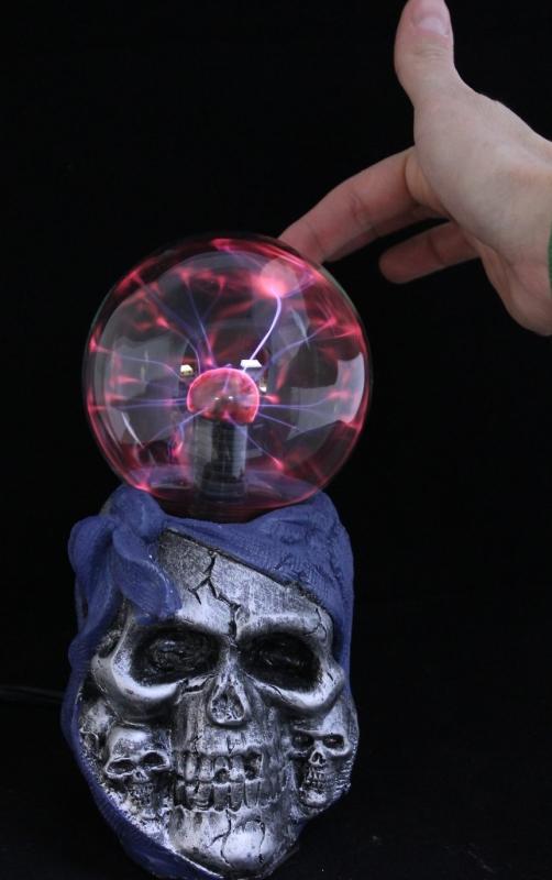 Skull Lightning Plasma Lamp