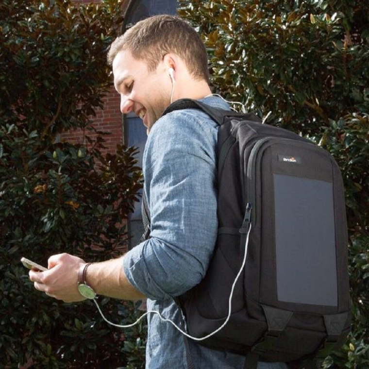 Solar Battery Charger Backpack with Hydration Bladder
