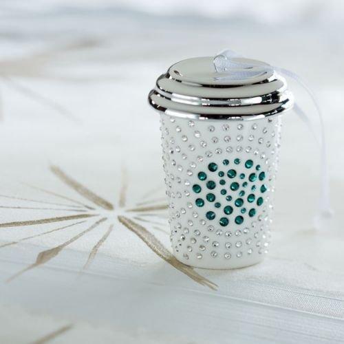 Starbucks Swarovski White Cup Ornament