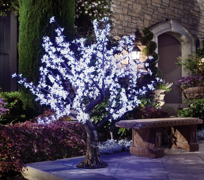 White LED Cherry Blossom Tree