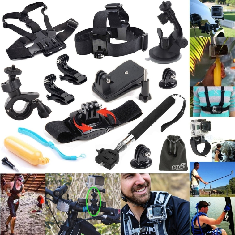 12-in-1 Outdoor Sports Essentials Kit for GoPro Hero4